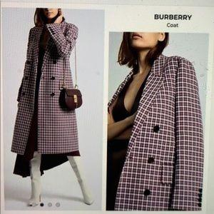 Burberry Parwoodul Plaid Trench Coat